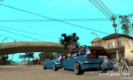 Remolque para el Volvo V40 para GTA San Andreas vista posterior izquierda