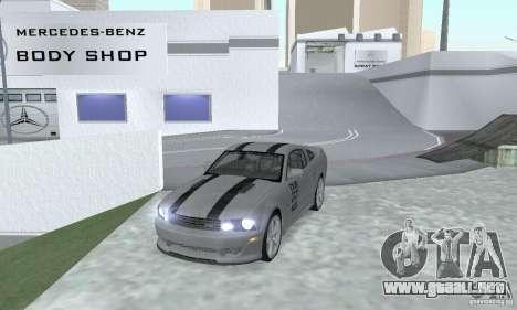 Saleen S281 Pack 1 para GTA San Andreas vista posterior izquierda