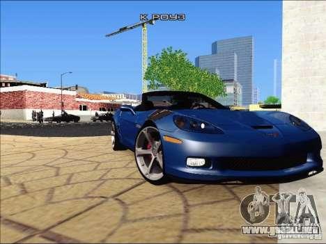 Chevrolet Corvette Grand Sport Cabrio 2010 para la visión correcta GTA San Andreas