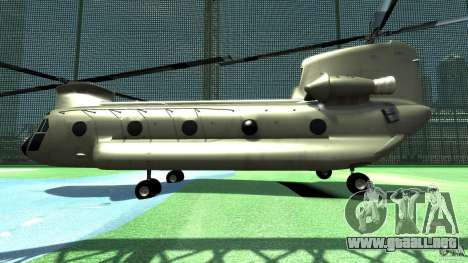 CH-47 para GTA 4 Vista posterior izquierda