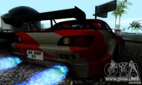 Honda S2000 Tunable para vista inferior GTA San Andreas
