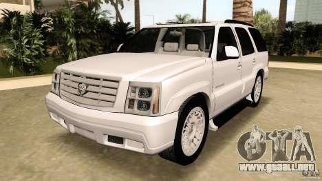 Cadillac Escalade para GTA Vice City vista posterior