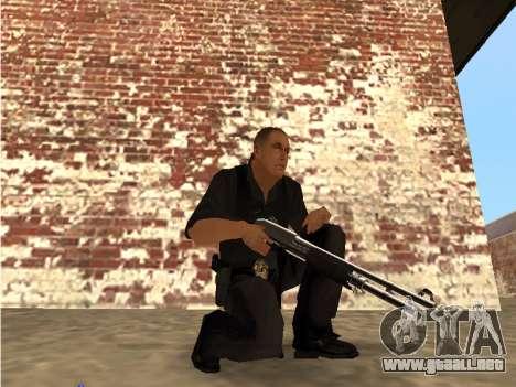 Chrome and Blue Weapons Pack para GTA San Andreas segunda pantalla