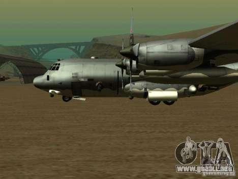 AC-130 Spooky II para GTA San Andreas vista posterior izquierda