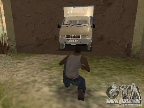 GAZ 3302 en 2001. para la vista superior GTA San Andreas