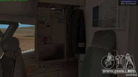 Boeing 757-200 Final Version para visión interna GTA San Andreas