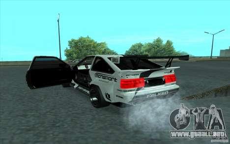 Toyota Corolla AE86 Shift 2 para visión interna GTA San Andreas