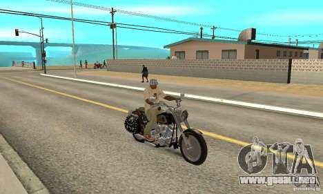 Harley Davidson FLSTF (Fat Boy) v2.0 Skin 5 para la visión correcta GTA San Andreas