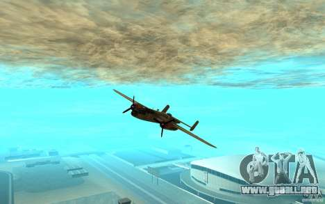 B-25 Mitchell para GTA San Andreas left