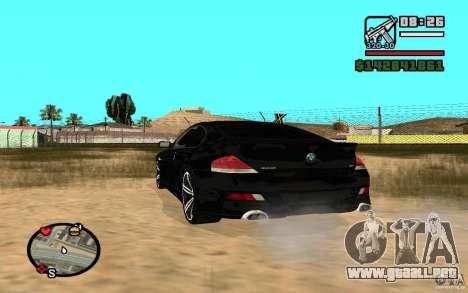 BMW M6 2006 para la visión correcta GTA San Andreas