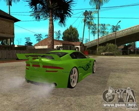 Aston Martin Vantage V8 - Green SHARK TUNING! para GTA San Andreas vista posterior izquierda