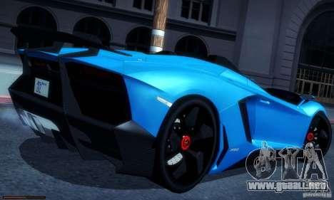 Lamborghini Aventador J para GTA San Andreas left