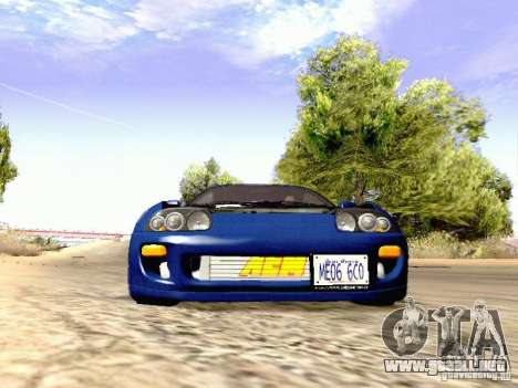 Toyota Supra Drift Edition para visión interna GTA San Andreas