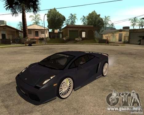Lamborghini Gallardo para vista lateral GTA San Andreas