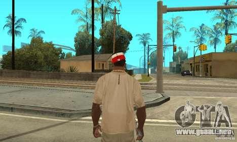 New Era Cap para GTA San Andreas segunda pantalla