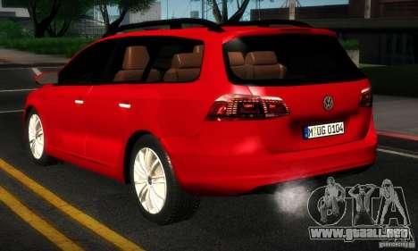 Volkswagen Passat B7 2012 para la visión correcta GTA San Andreas