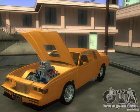 Buick GNX pro stock para GTA San Andreas vista posterior izquierda