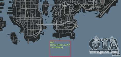 MG Downhill Map V1.0 [Beta] para GTA 4 octavo de pantalla