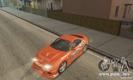 Toyota Supra Tunable 2 para GTA San Andreas interior