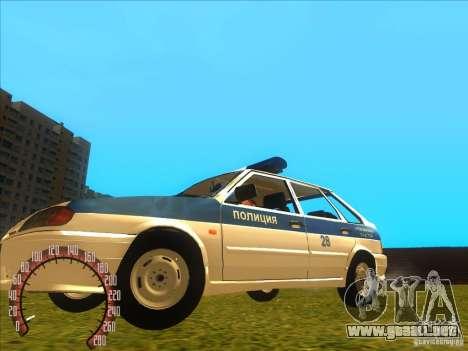 Policía rusa Ваз 2114 para GTA San Andreas left