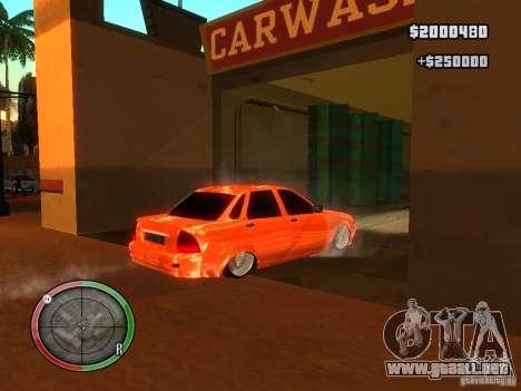 Lada Priora Dag Style para visión interna GTA San Andreas