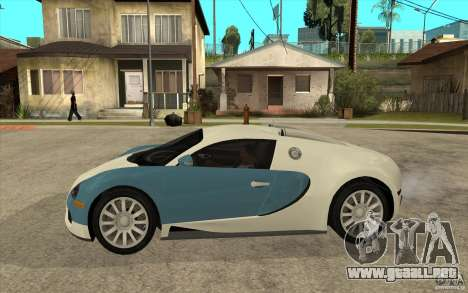 Bugatti Veyron Final para GTA San Andreas left