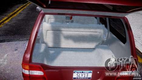 Toyota Land Cruiser 100 Stock para GTA 4 vista superior