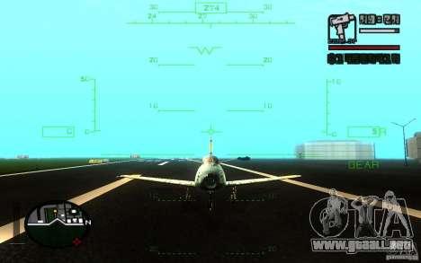F 86 Sabre para la vista superior GTA San Andreas