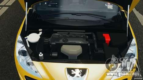 Peugeot 308 GTi 2011 Taxi v1.1 para GTA 4 vista superior