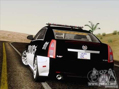 Cadillac CTS-V Police Car para visión interna GTA San Andreas
