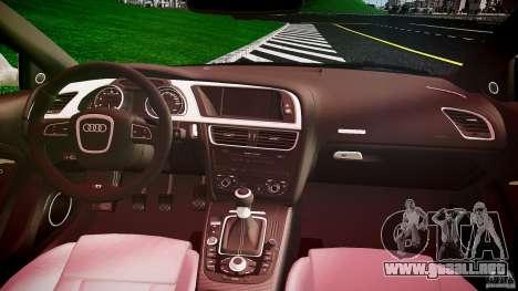 Audi S5 Hungarian Police Car black body para GTA 4 vista hacia atrás
