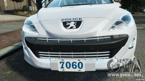 Peugeot 308 GTi 2011 Police v1.1 para GTA motor 4