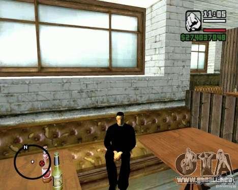 Capacidad para sentarse para GTA San Andreas sucesivamente de pantalla