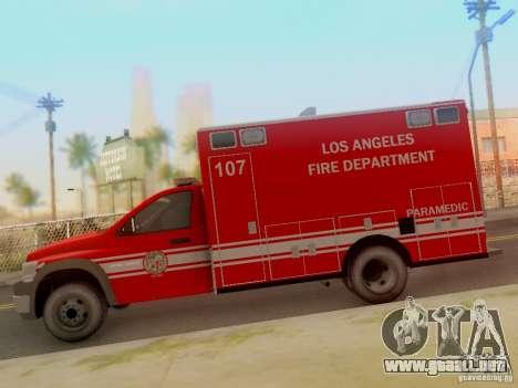 Dodge Ram 1500 LAFD Paramedic para GTA San Andreas left