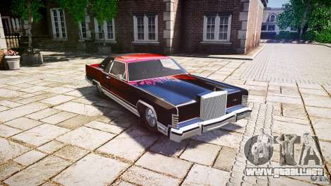 Lincoln Continental Town Coupe v1.0 1979 [EPM] para GTA 4 vista interior