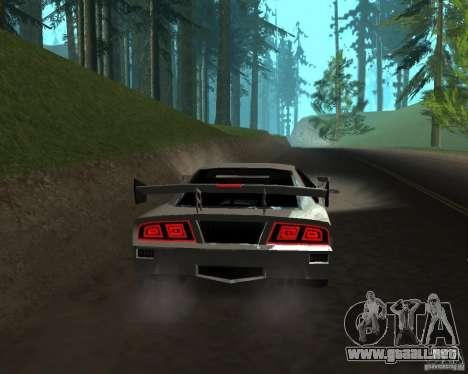 Azik Turismo para GTA San Andreas vista posterior izquierda