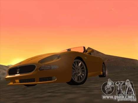 Maserati Spyder Cambiocorsa para GTA San Andreas left