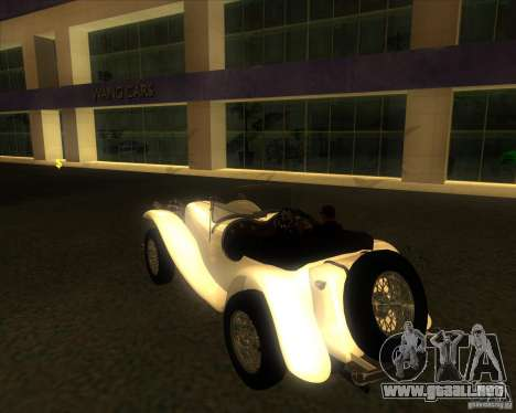 Jaguar SS 100 para GTA San Andreas left