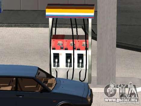 La gasolinera Lukoil para GTA San Andreas sucesivamente de pantalla