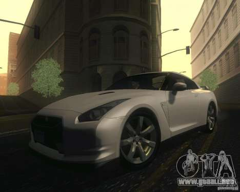 Nissan GTR R35 Spec-V 2010 Stock Wheels para la vista superior GTA San Andreas