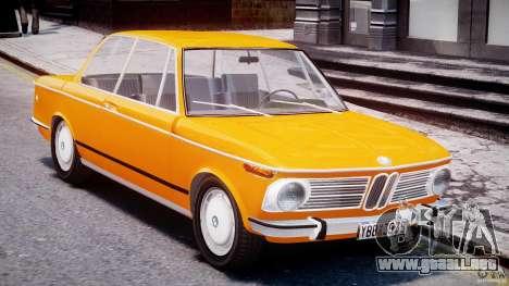 BMW 2002 1972 para GTA 4 vista interior