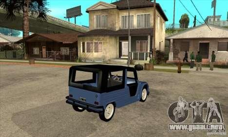 Citroen Mehari para la visión correcta GTA San Andreas