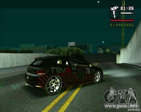Volkswagen Scirocco 2008 para GTA San Andreas left