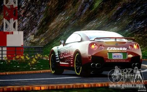 Nissan GT-R Black Edition GReddy para GTA 4 visión correcta