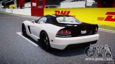 Dodge Viper SRT-10 ACR 2009 v2.0 [EPM] para GTA 4 Vista posterior izquierda