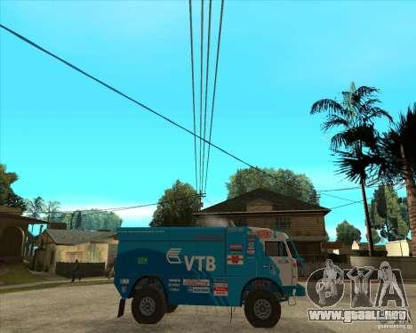 KAMAZ 4911 (2007) Rally Raid version para la visión correcta GTA San Andreas