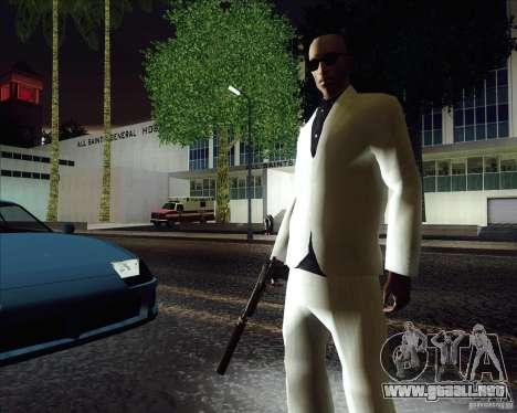 Traje blanco para GTA San Andreas segunda pantalla