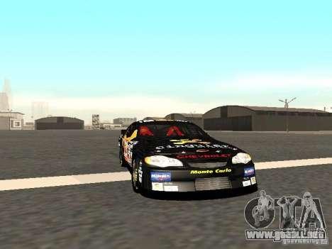 Chevrolet Monte Carlo Nascar CINGULAR Nr.31 para GTA San Andreas left