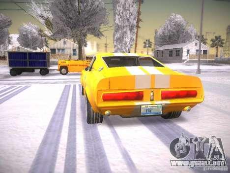 Shelby GT500 Eleanor para GTA San Andreas vista posterior izquierda