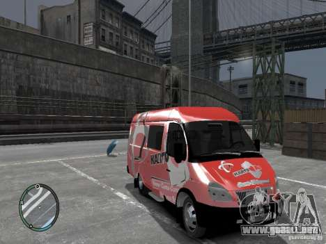 Gacela 2705 Telkomsel Van para GTA 4 visión correcta